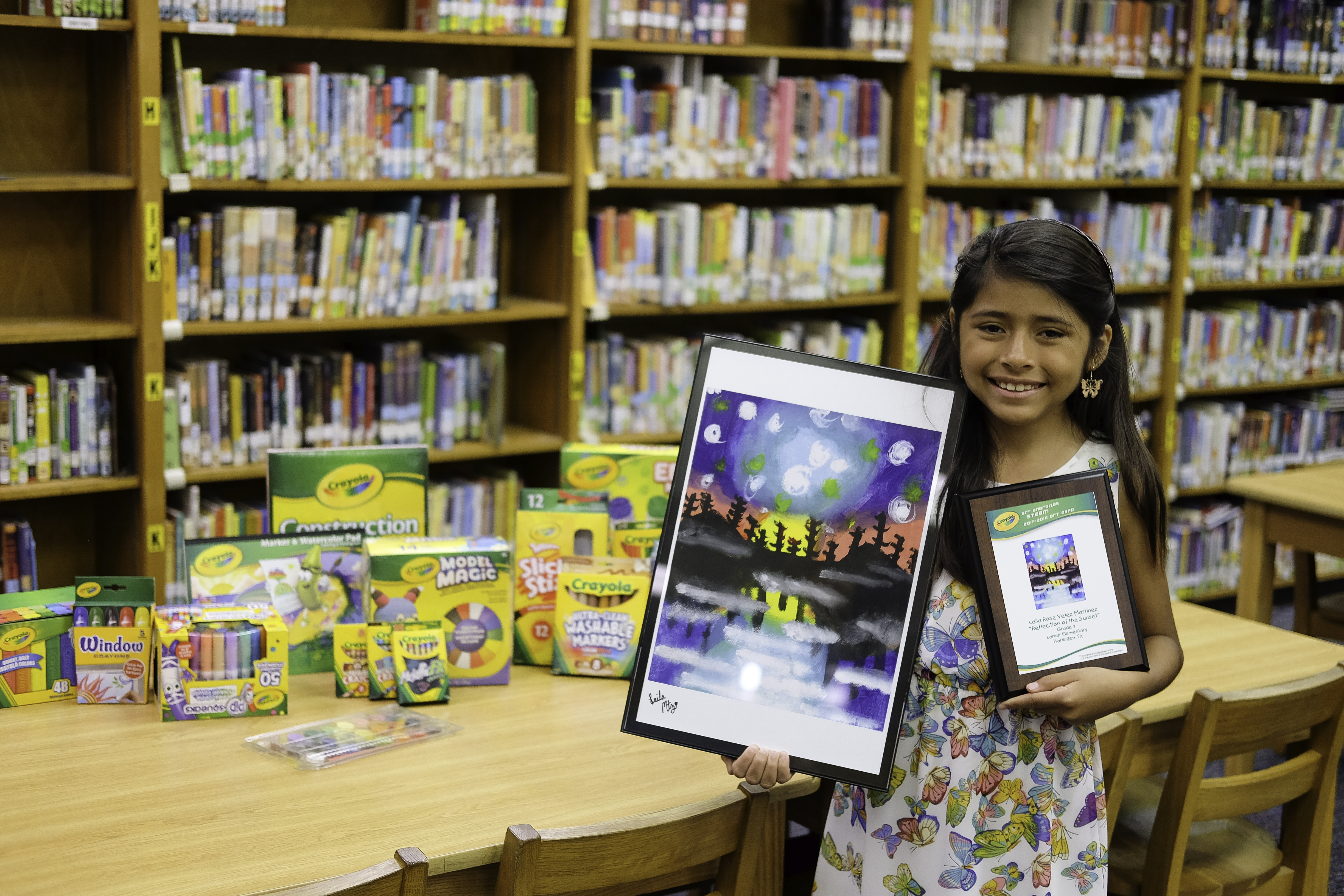Third-grader receives national recognition in Crayola Art Expo