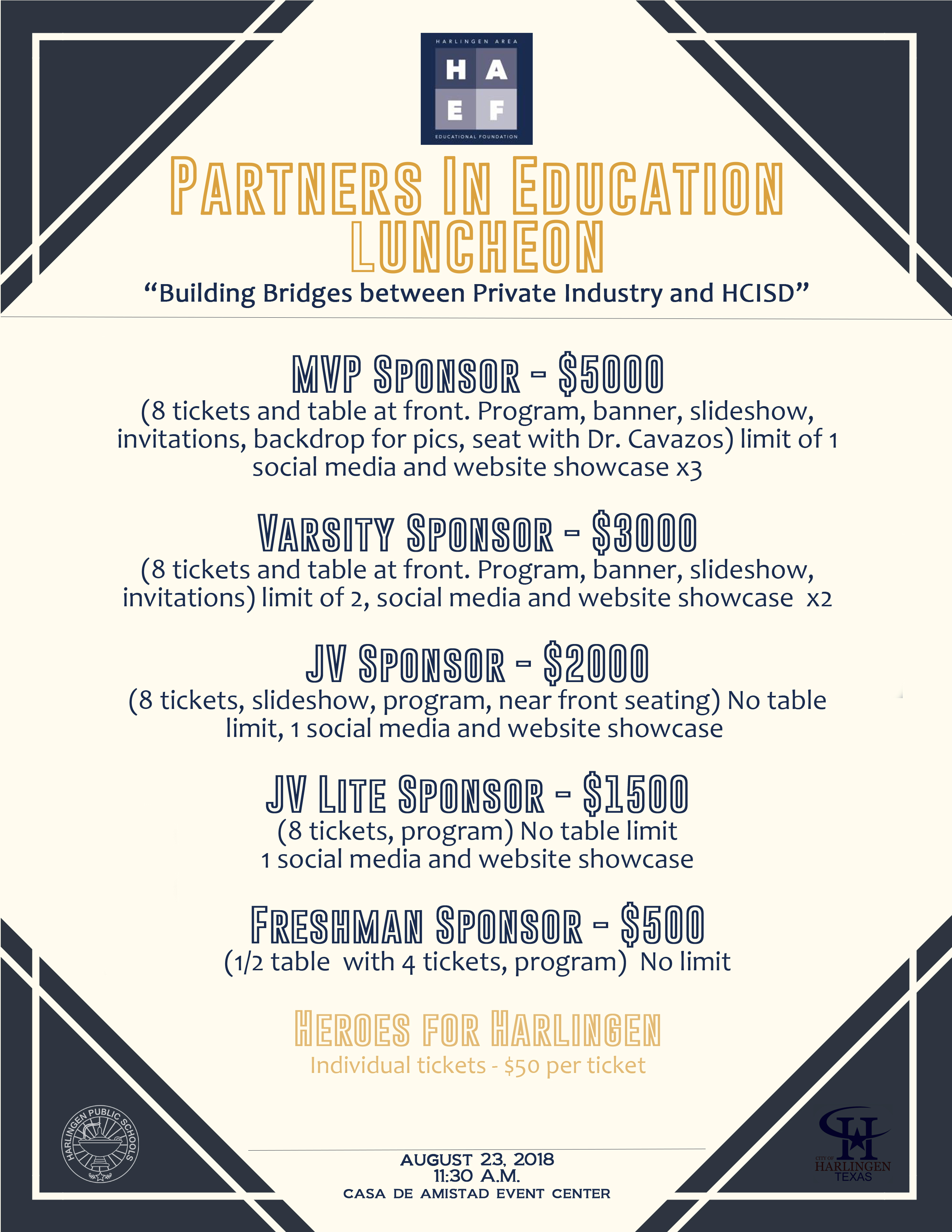 HAEF hosts Partners in Education Luncheon