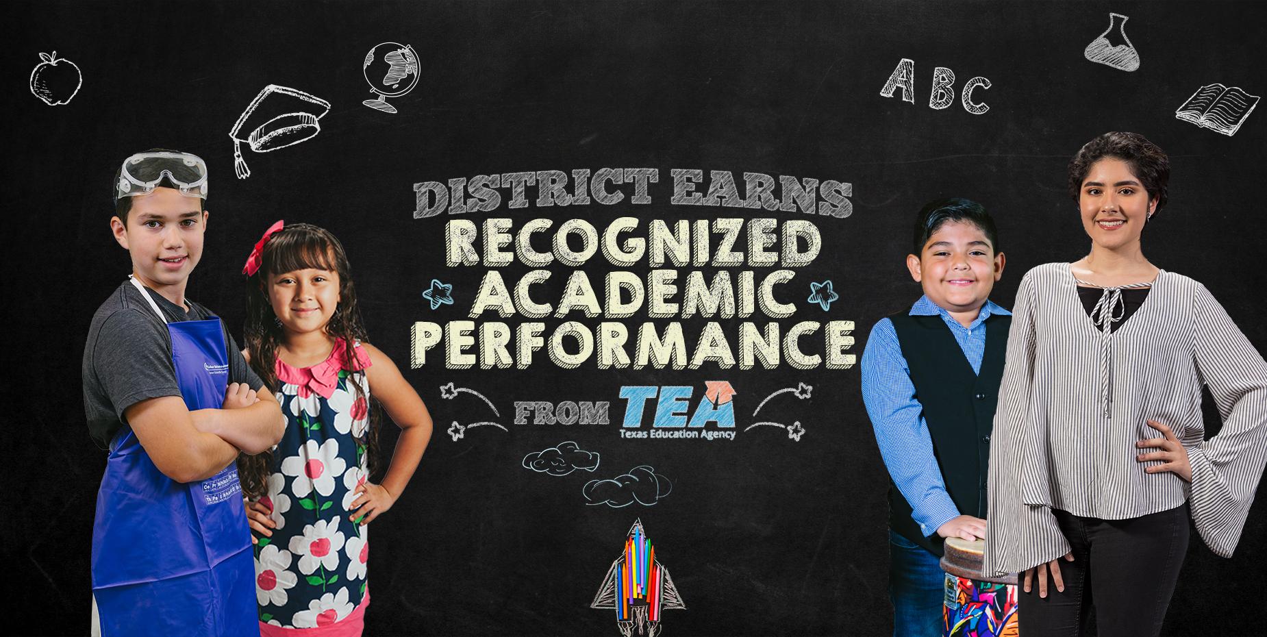 El distrito obtiene Desempeño Académico Reconocido y Preparación Postsecundaria Distinguida de TEA.