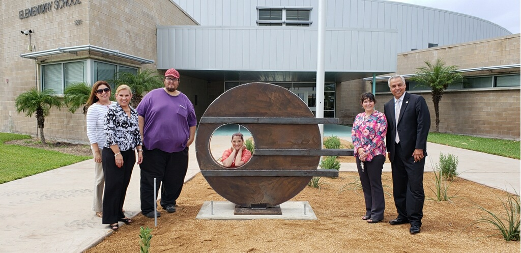 New modern art sculpture installed at Lee Means Fine Arts Academy