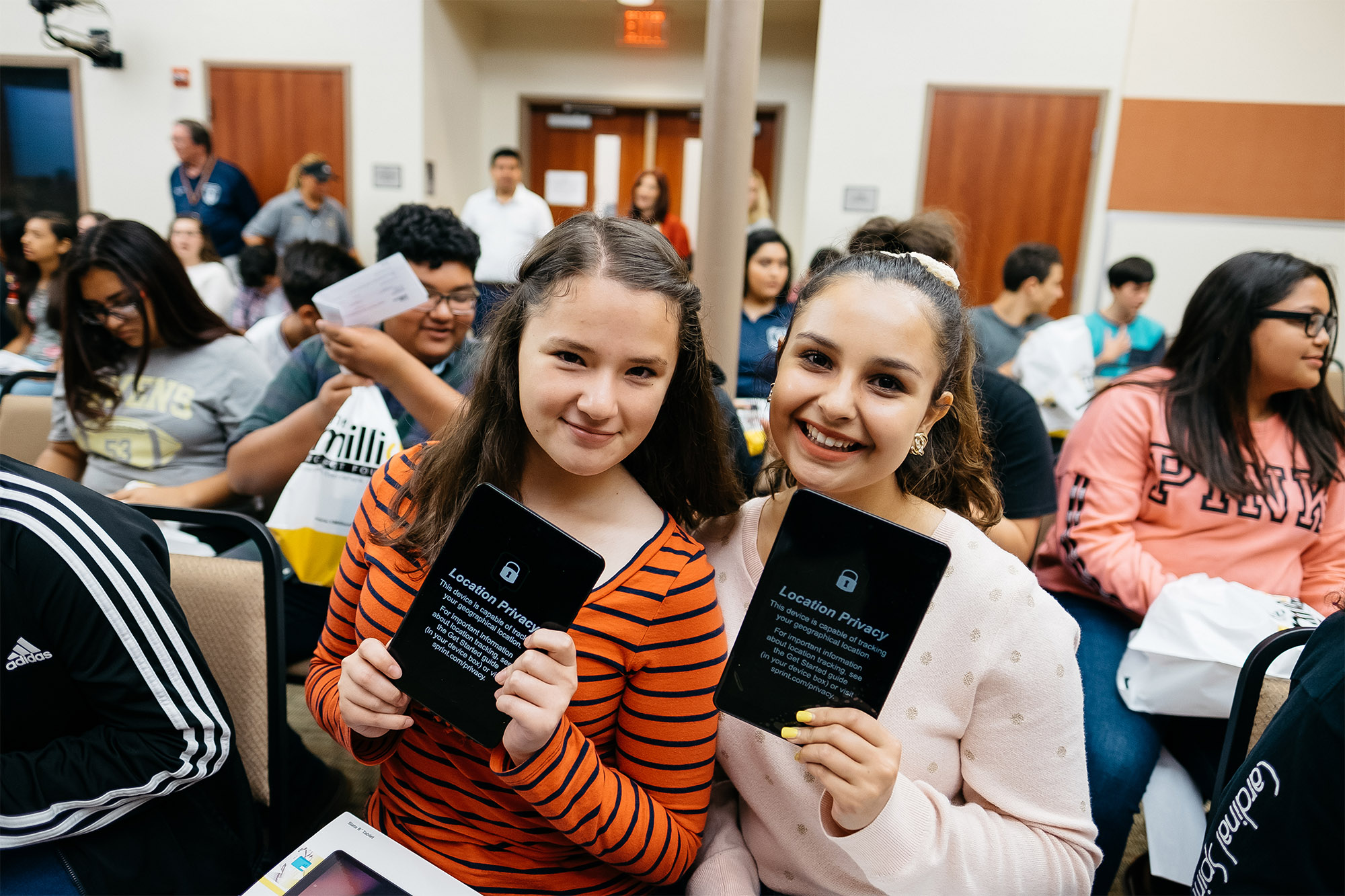 Over 200 ECHS students receive tablets from Sprint 1Million Project