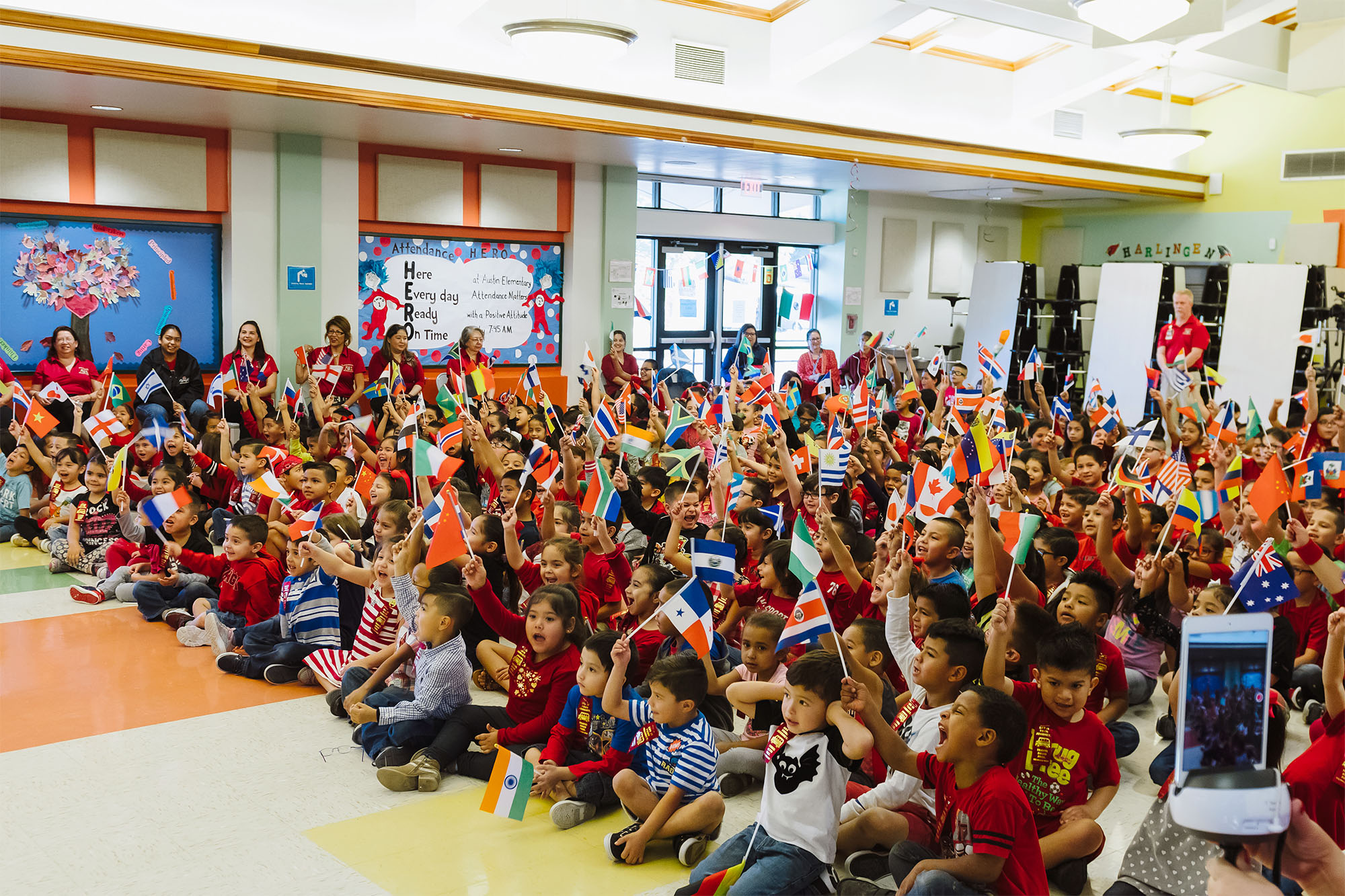 Austin and Houston Elementary celebrate International Baccalaureate program candidacy
