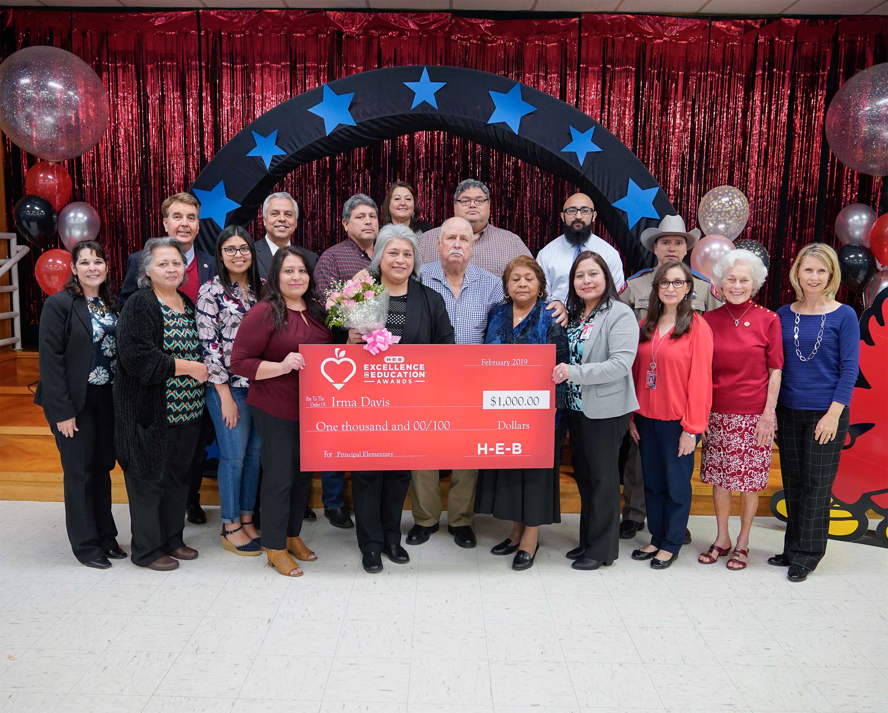HCISD principal named finalist in HEB Excellence in Education Awards