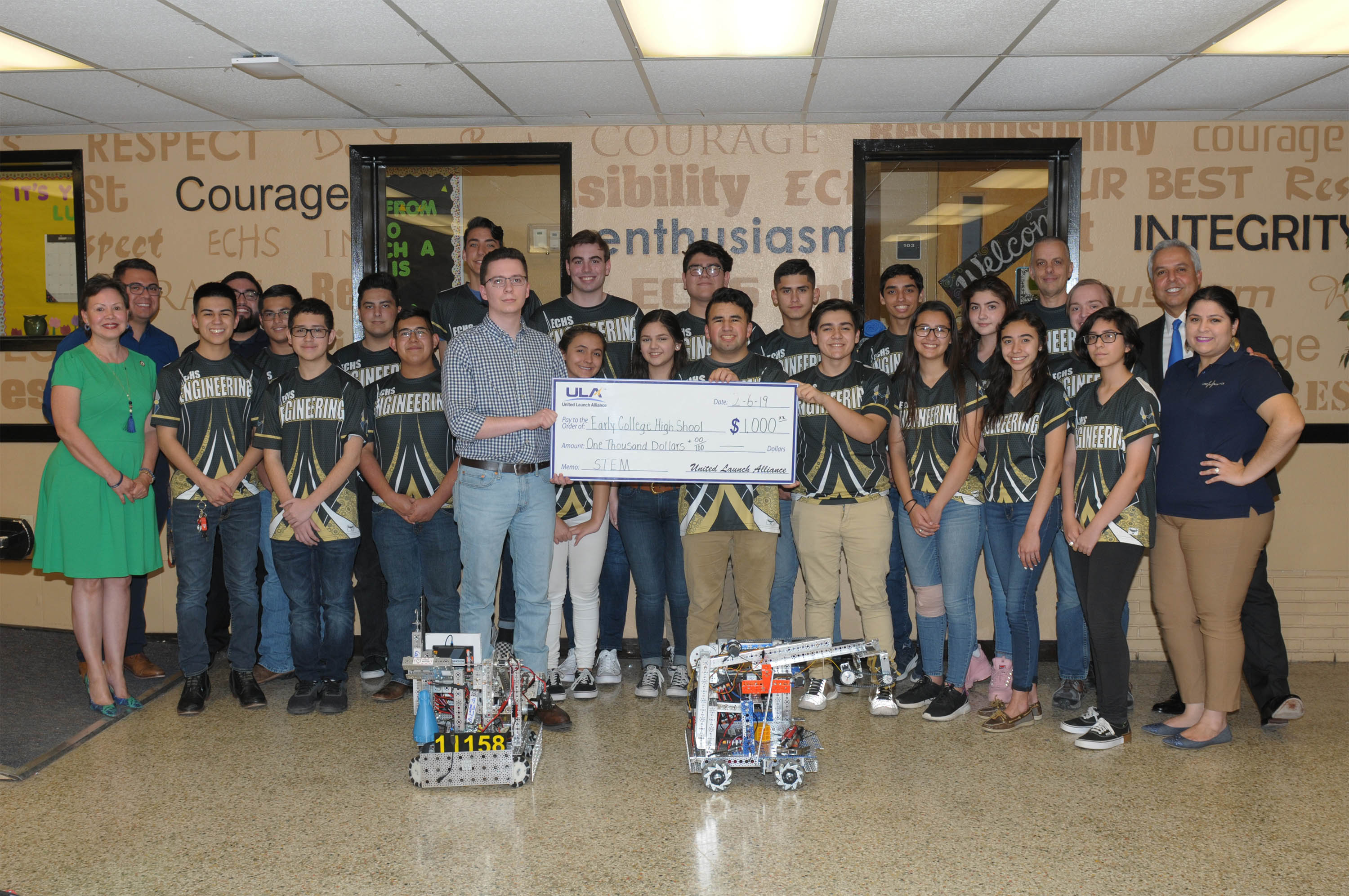ULA contributes to Harlingen CISD's Robotics TEAMS