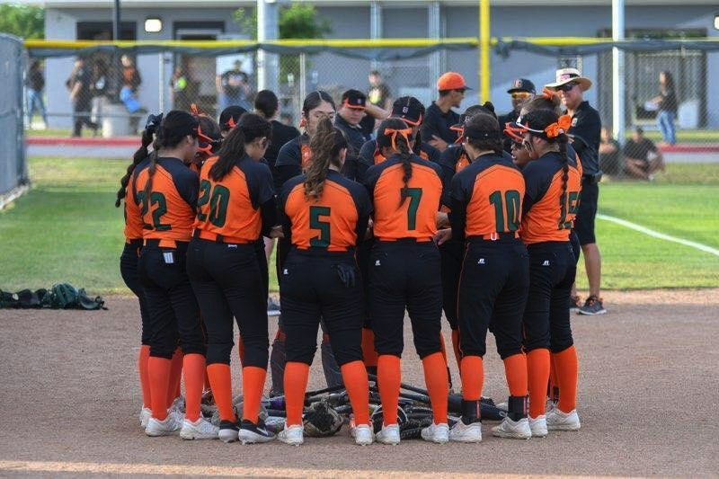 Lady Hawks softball slides into bi-district championship