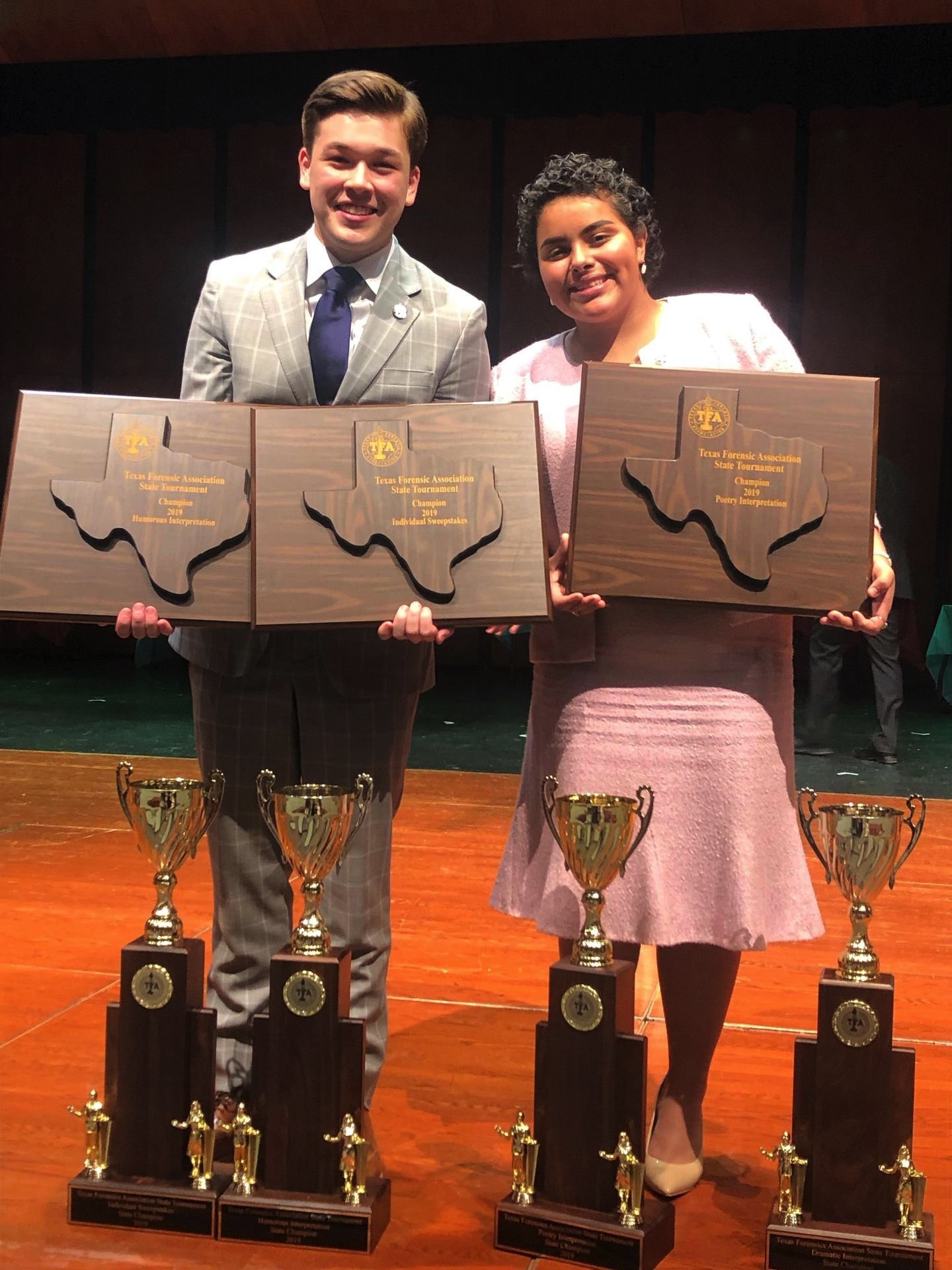 HCISD students claim state championship in humorous interpretation, poetry