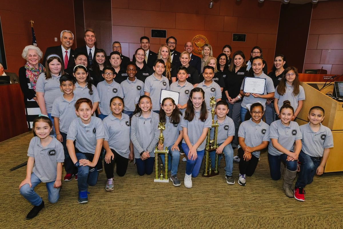 Elementary UIL winners recognized at board meeting
