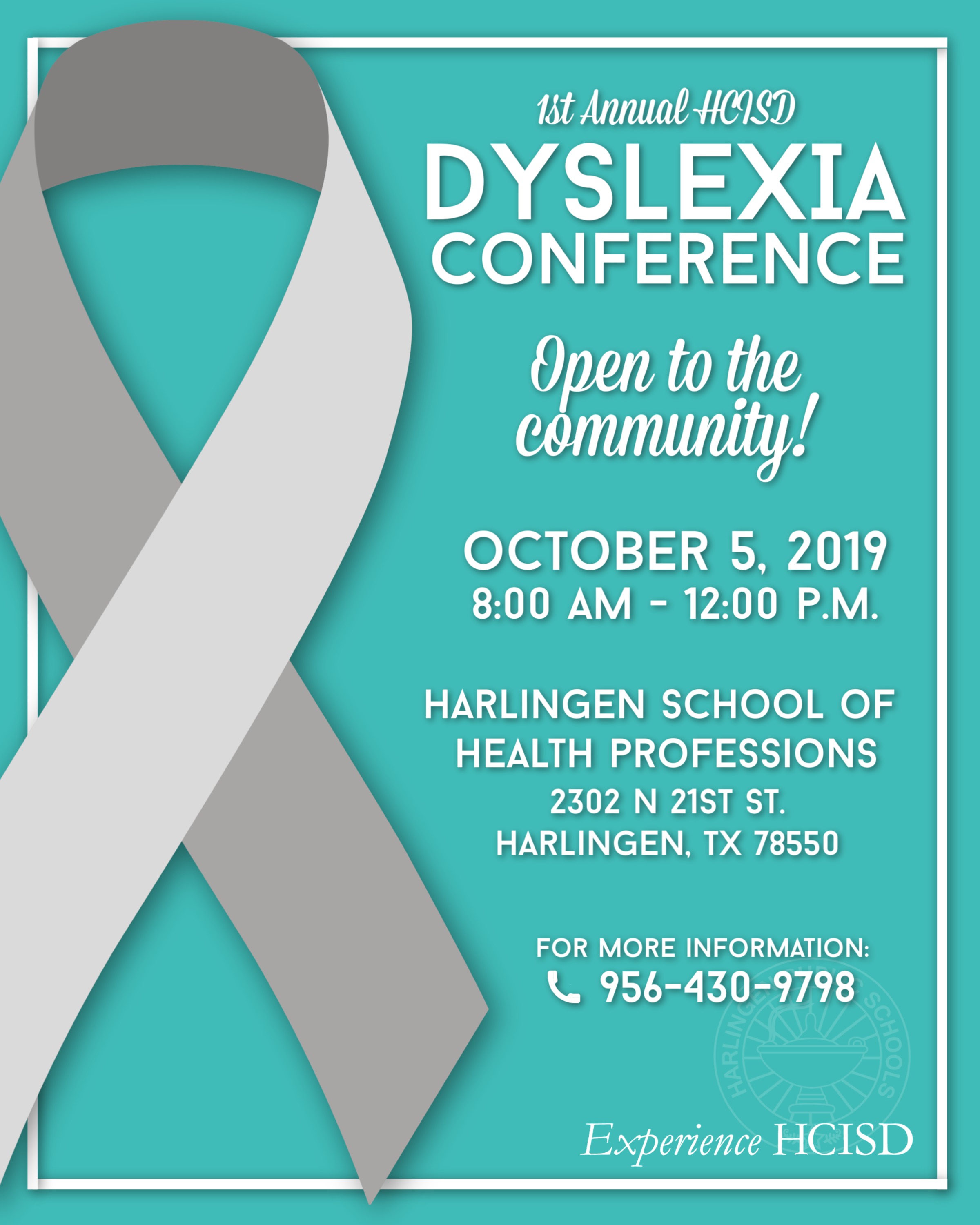 1st Annual Dyslexia Conference: Saturday, October 5, 2019
