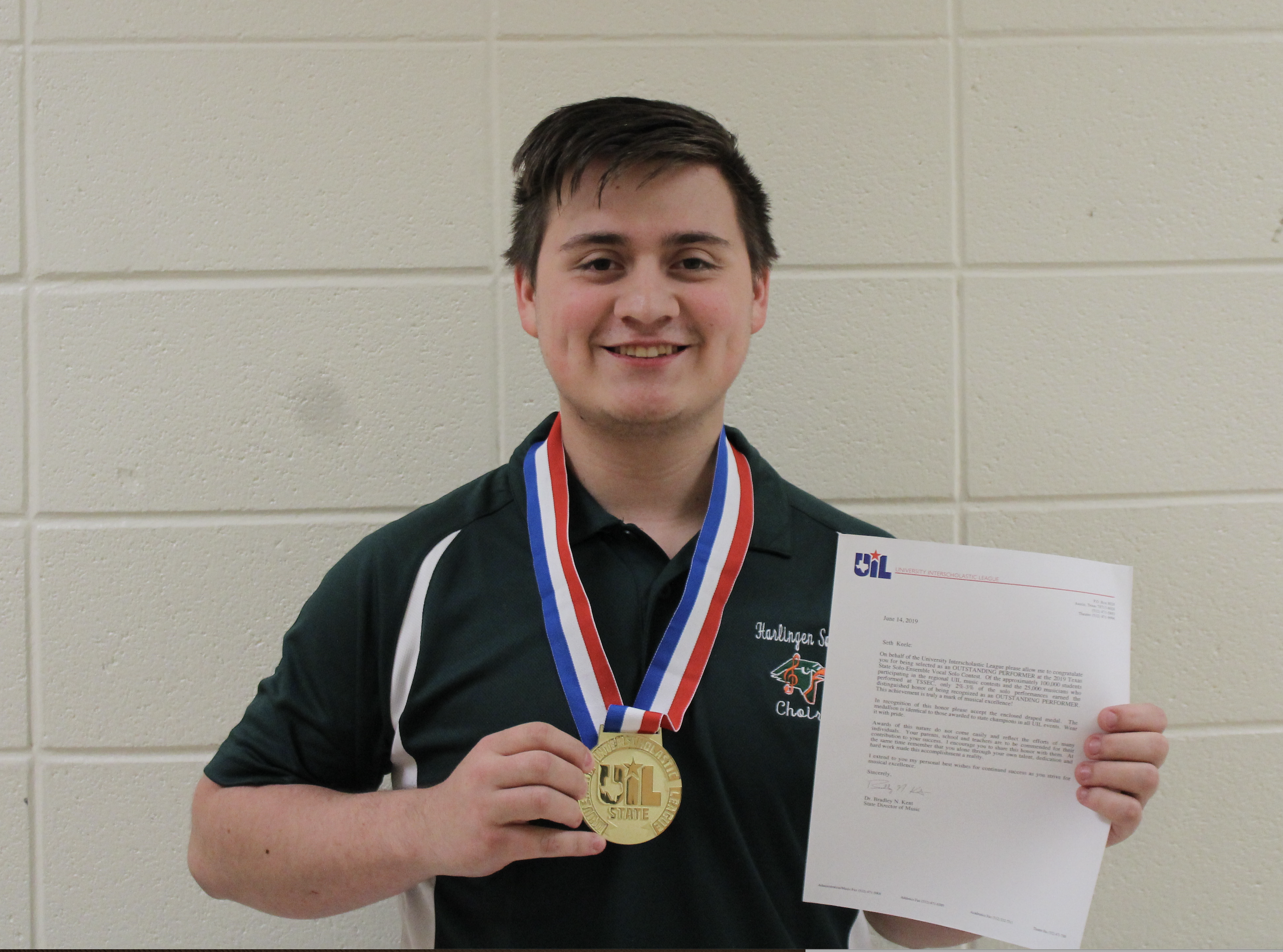 Choir soloist earns rare 'outstanding performer' award at state