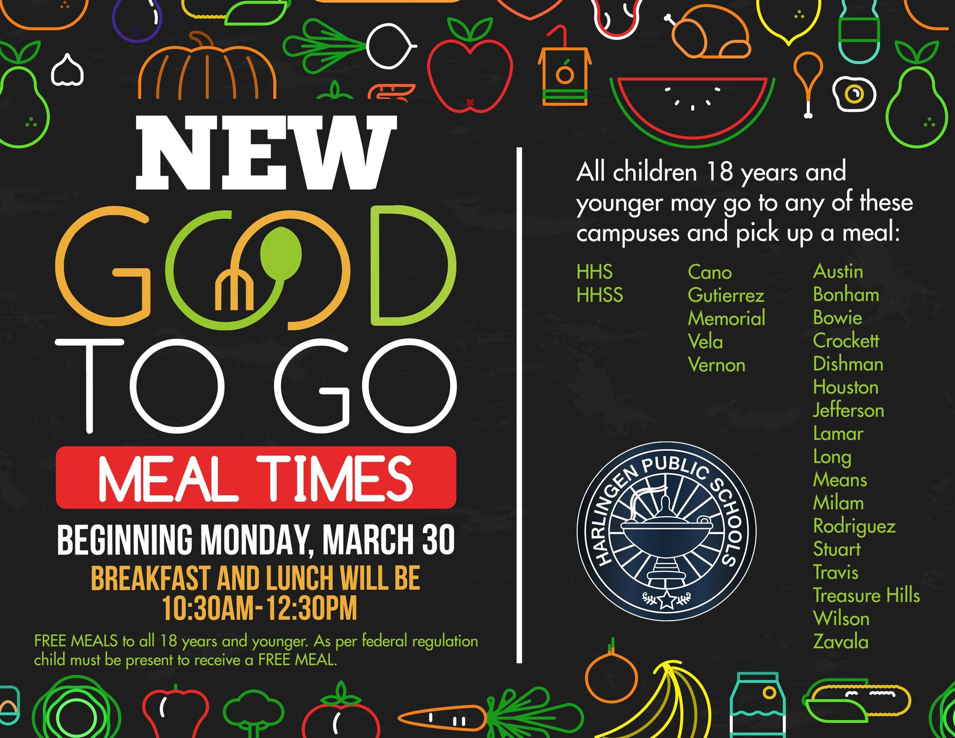 Good to Go meals for students continue this week