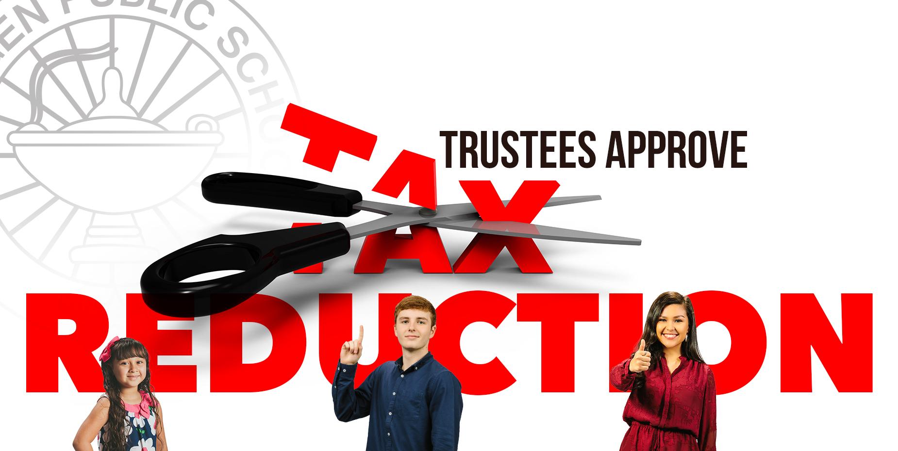 La Mesa Directiva Escolar aprueba reducción de impuestos.