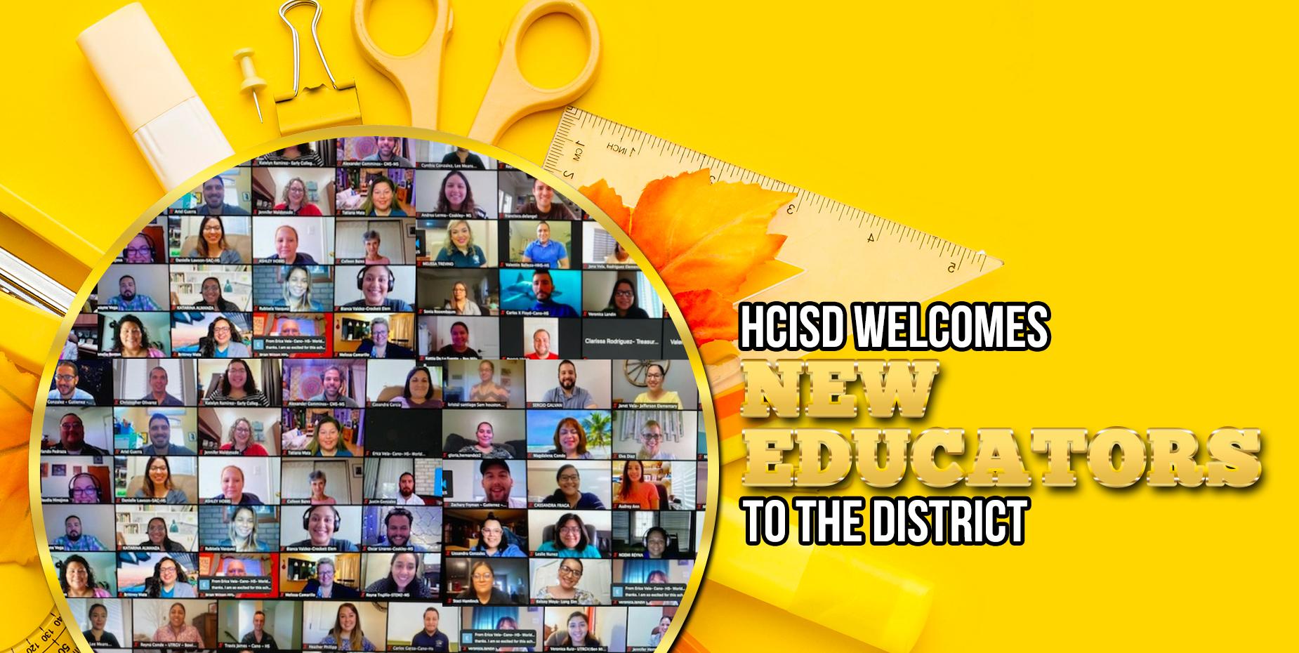 HCISD les da la bienvenida a los nuevos maestros al distrito.