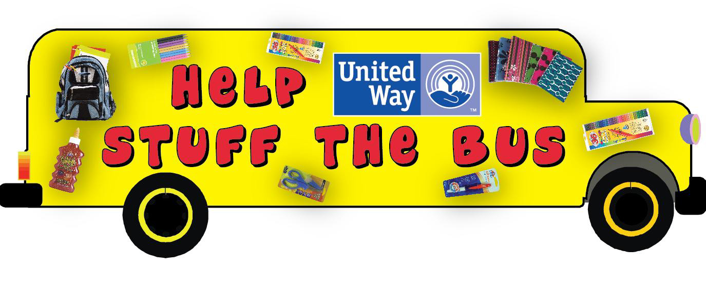 Stuff the Bus provides donation to purchase school supplies