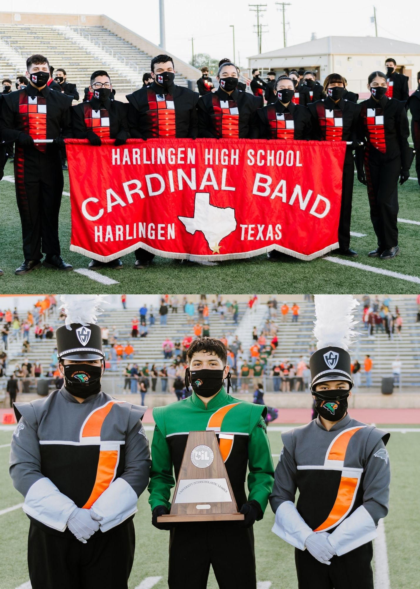 The Big Red and Mighty Hawk bands advance to UIL State Marching Band Championships