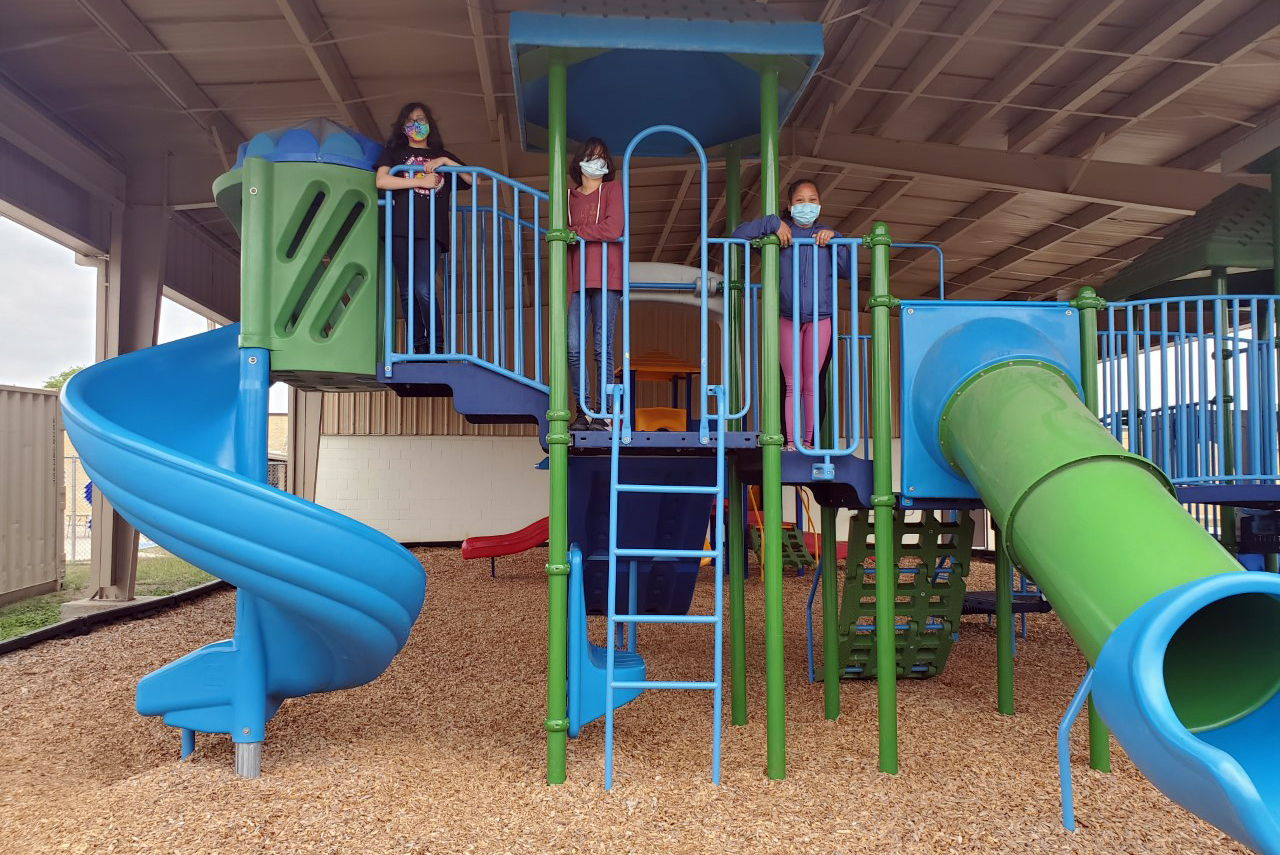 Playground reopens at Bowie Elementary