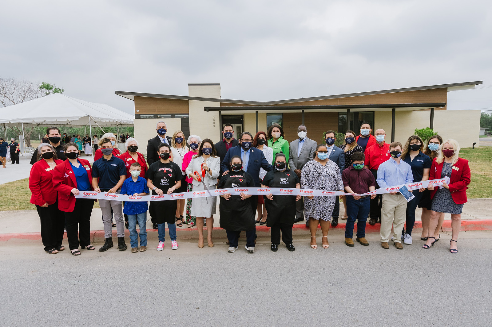HCISD commemorates the opening of the transition academy with ribbon-cutting ceremony