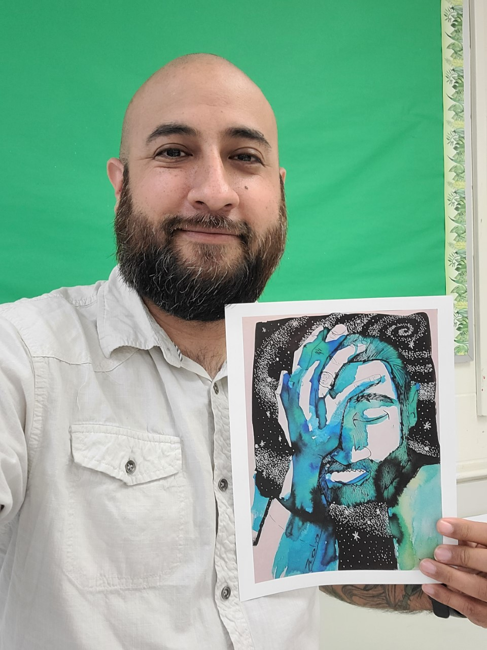 HCISD art teacher wins third place in Texas Mental Health Creative Arts Contest