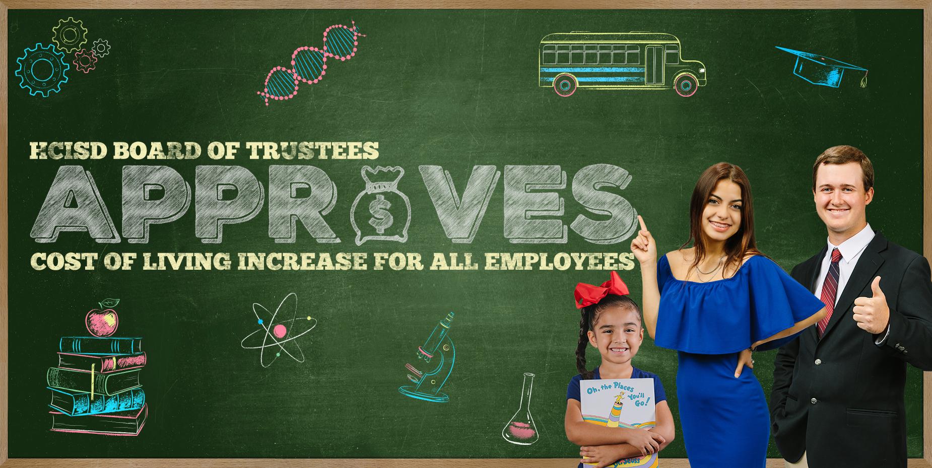 La Mesa Directiva aprueba aumento del costo de vida para todos los empleados.