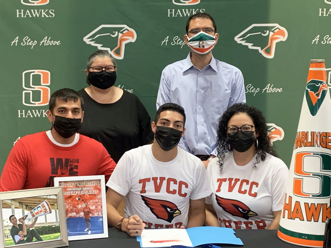 HHSS cheerleader signs with Trinity Valley Community College