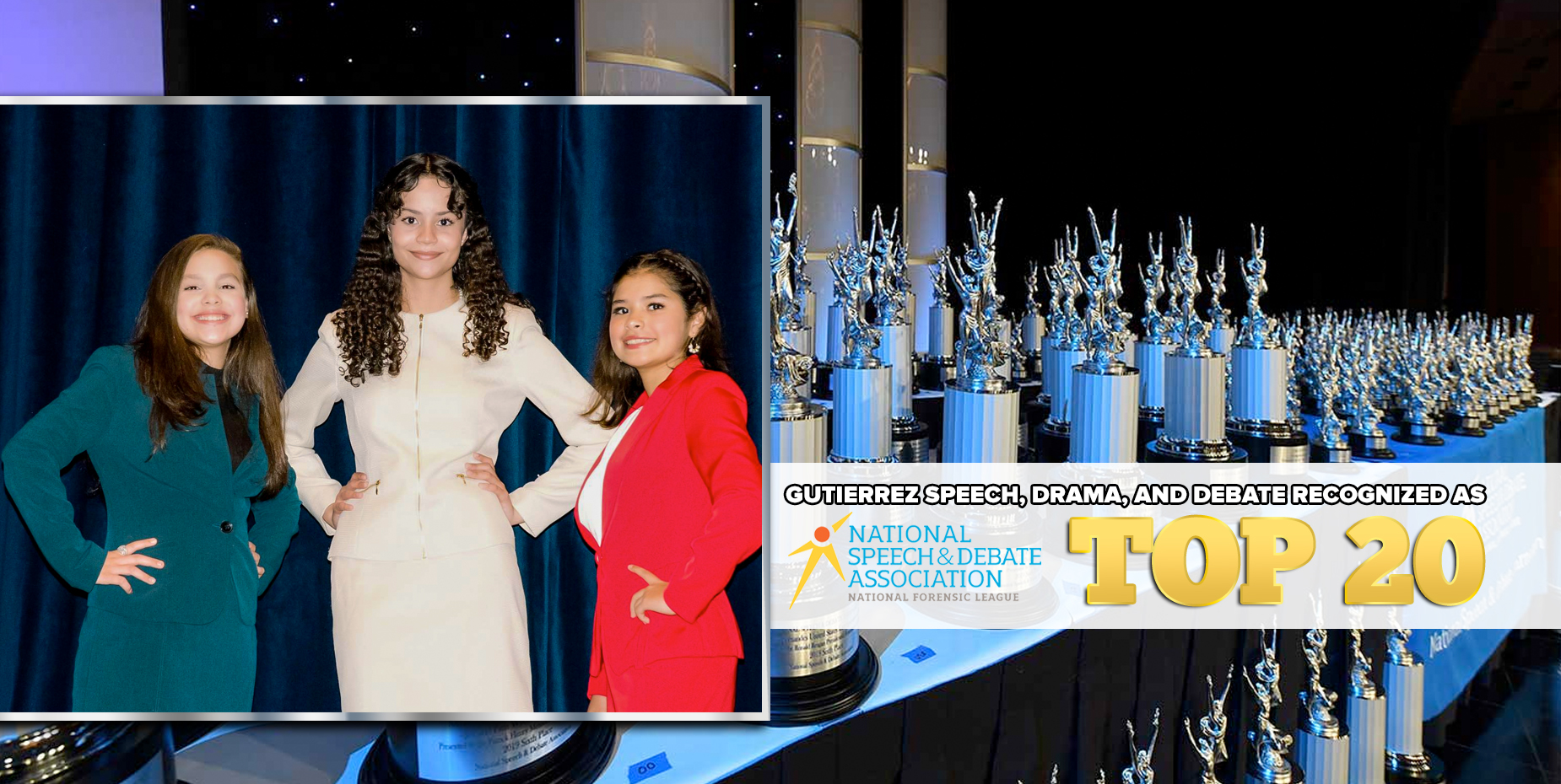 El equipo de Oratoria, Drama y Debate de Gutierrez es reconocido por NSDA entre los primeros 20.
