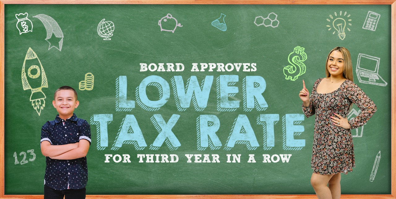 Board approves lower tax rate for third year in a row
