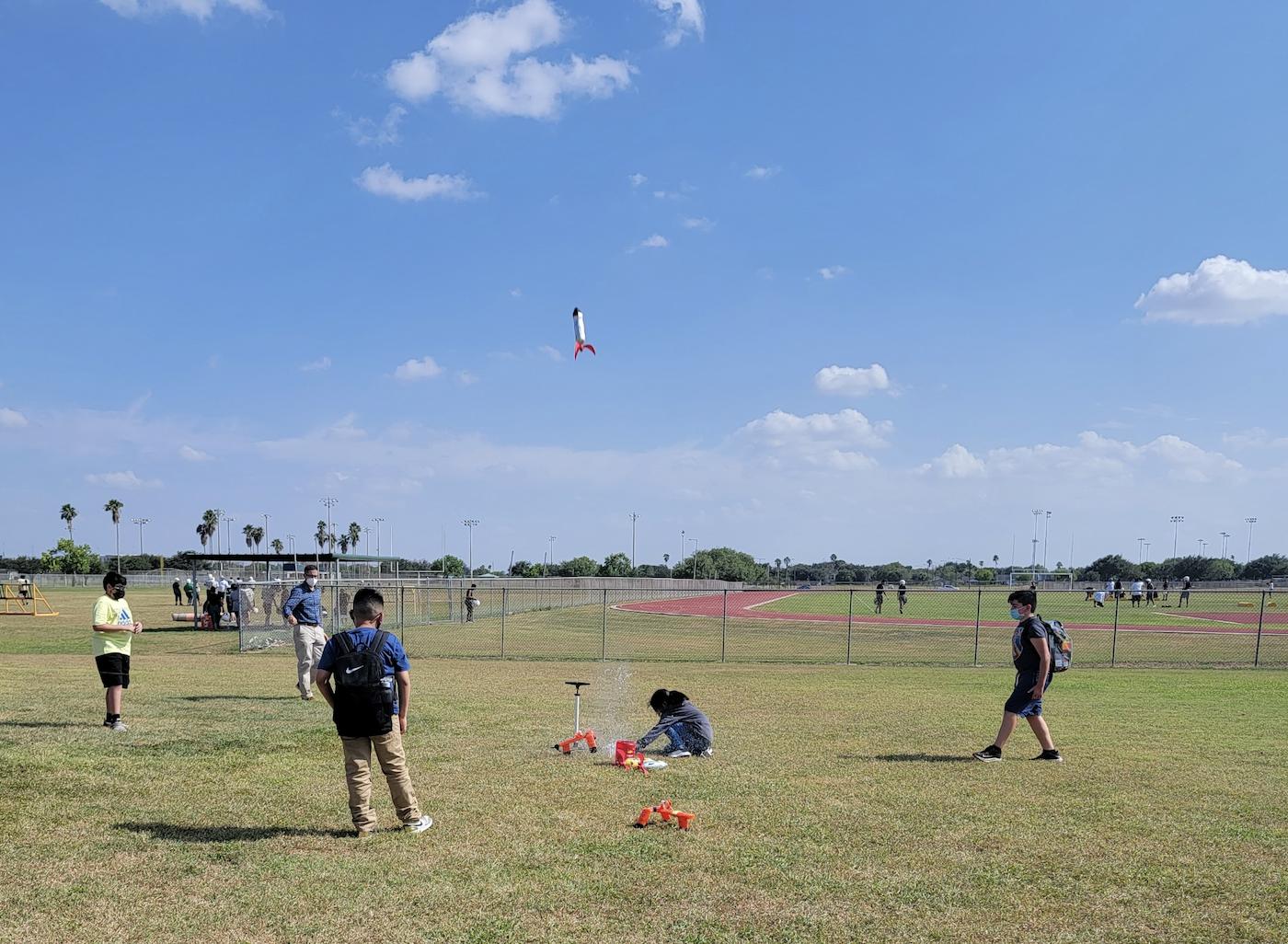 Gutierrez Flight and Space class launches rockets