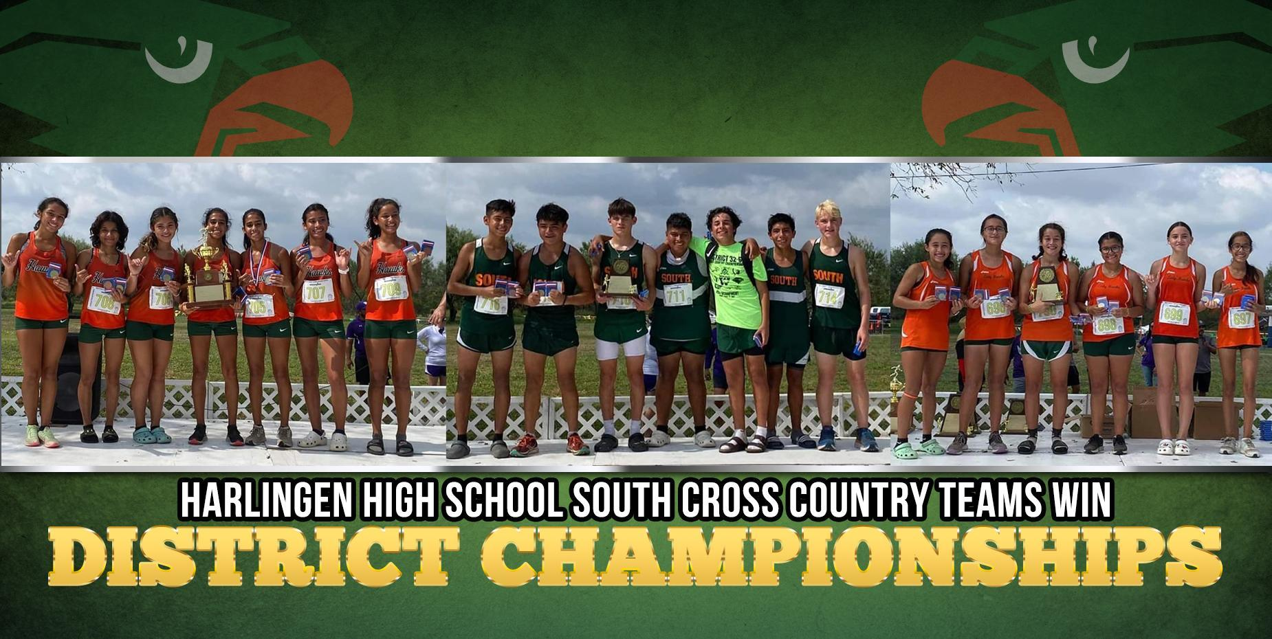 Harlingen High School South Cross Country teams win District Championship