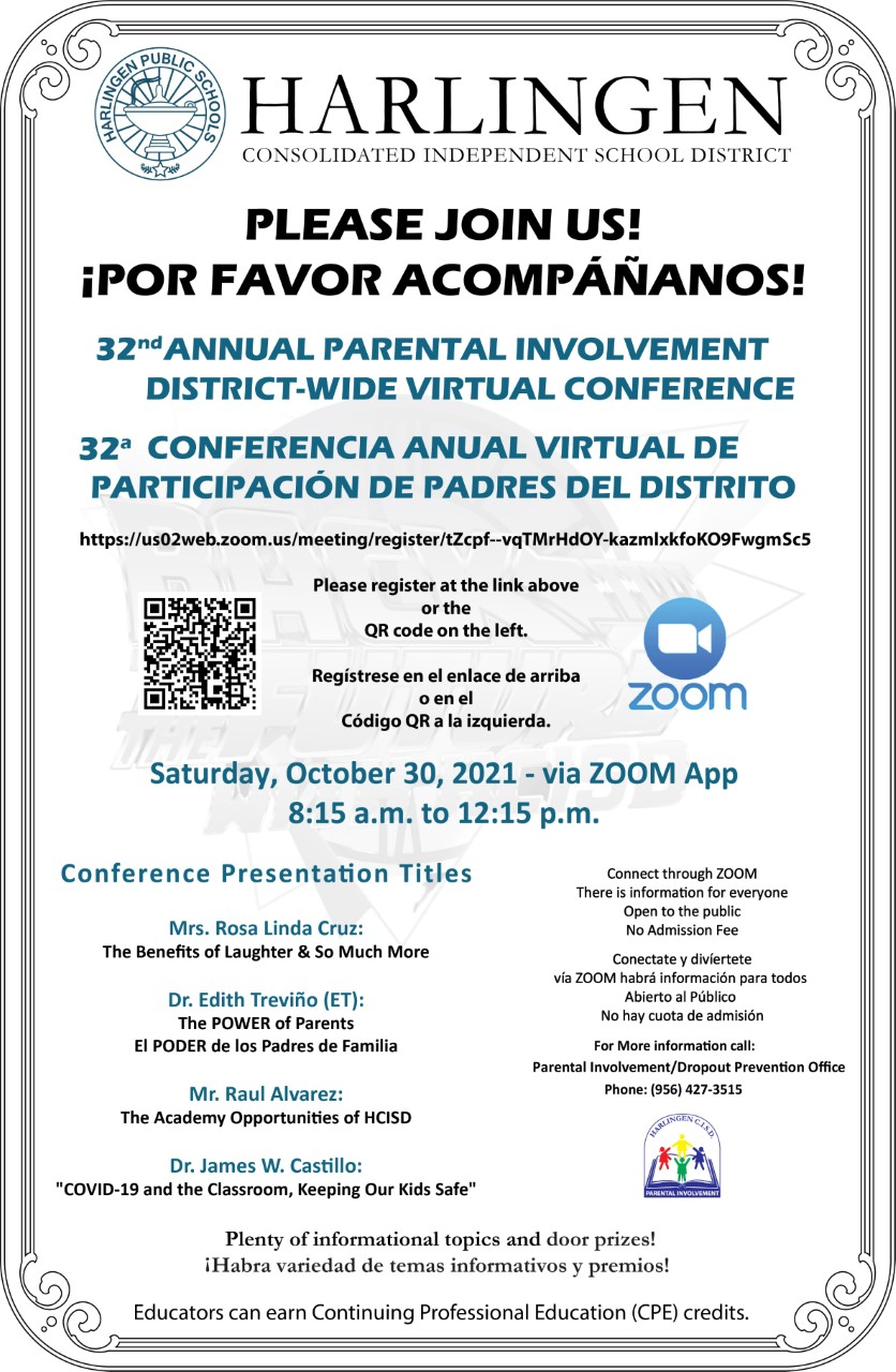 32nd Annual Parental Involvement District-Wide Virtual Conference